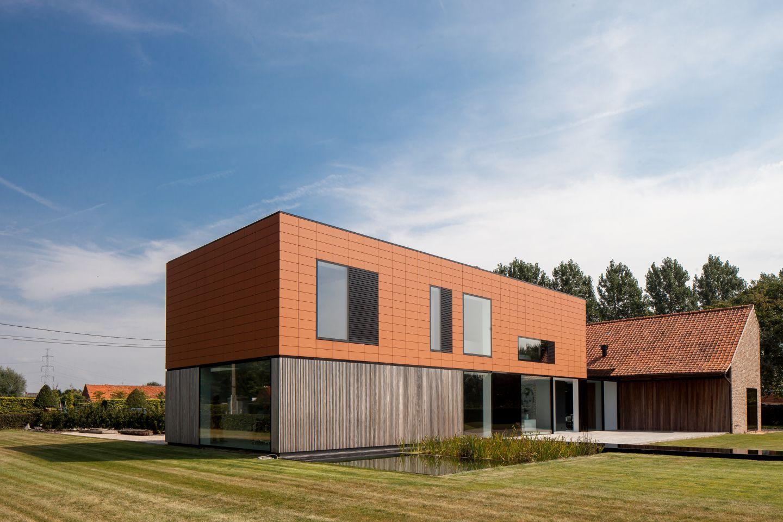 Zweist ckiges modernes wohnhaus im l ndlichen flandern for Modernes wohnhaus