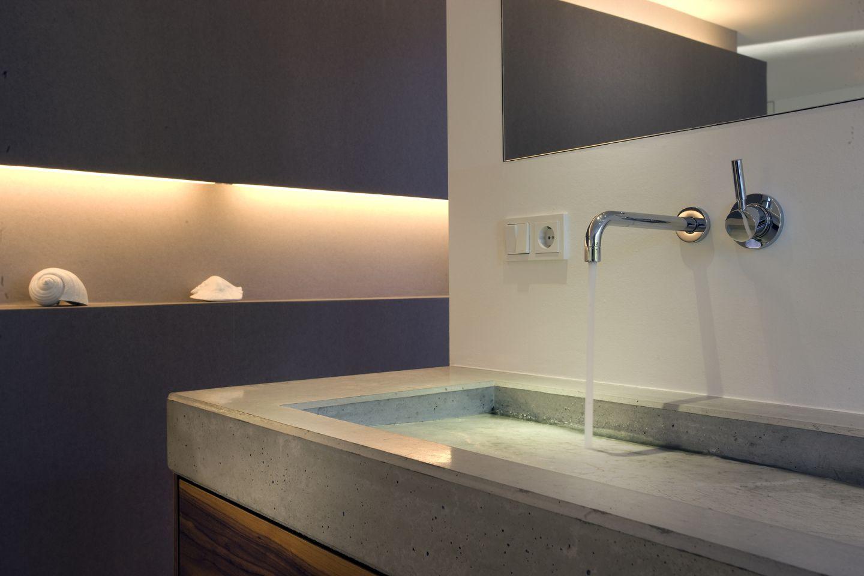modern und schlicht ein waschbecken aus beton. Black Bedroom Furniture Sets. Home Design Ideas
