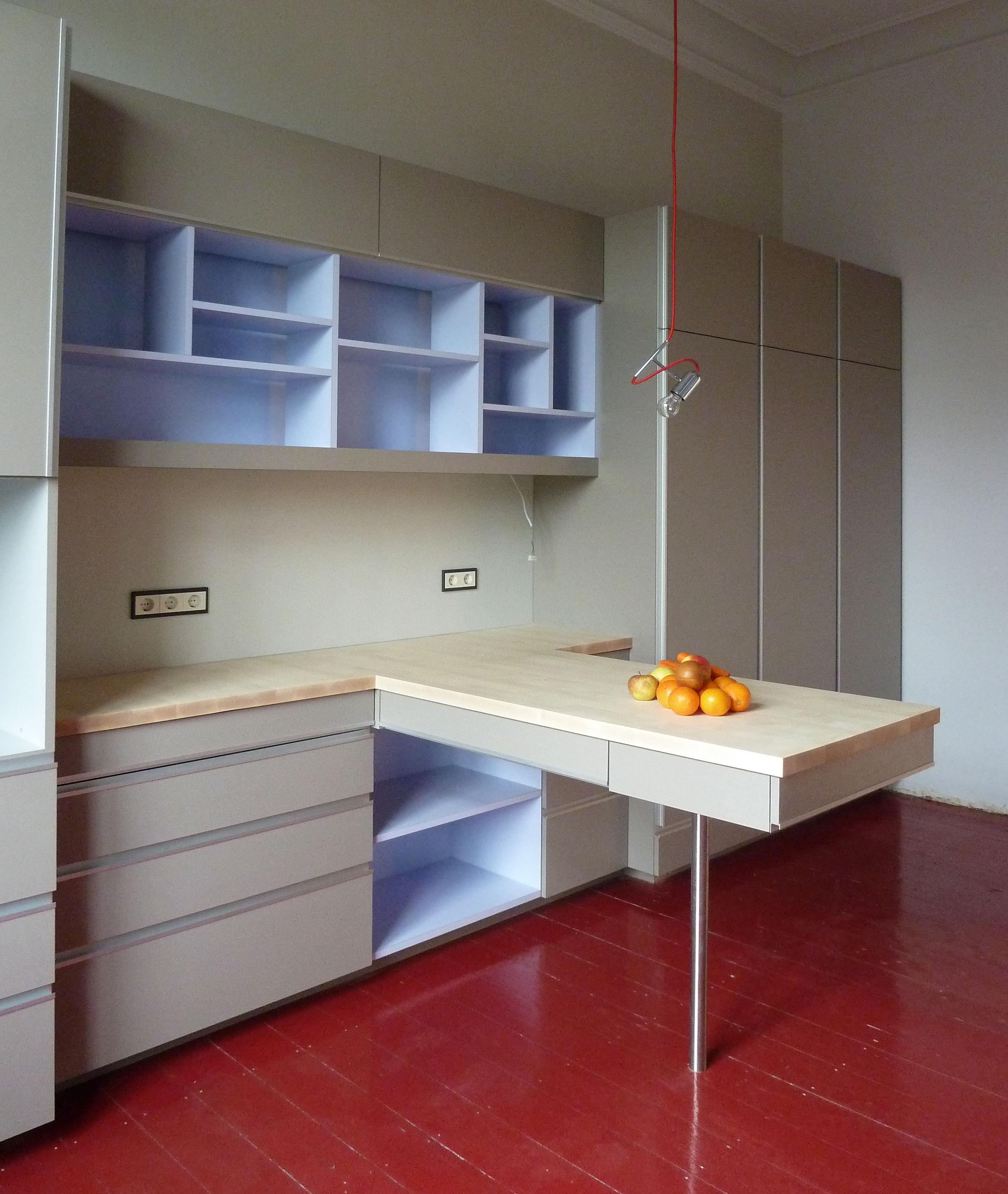 reduzierte k che mit altbau flair. Black Bedroom Furniture Sets. Home Design Ideas