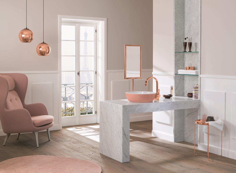 marmor unterbau mit rosa aufsatz waschbecken. Black Bedroom Furniture Sets. Home Design Ideas