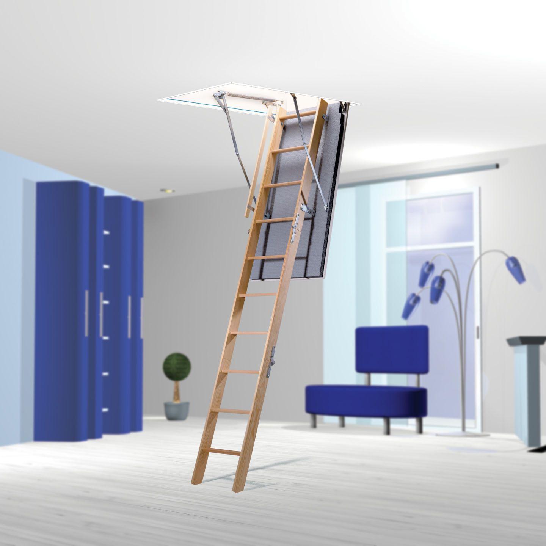 bodentreppe als platzsparender zugang zum dachboden. Black Bedroom Furniture Sets. Home Design Ideas