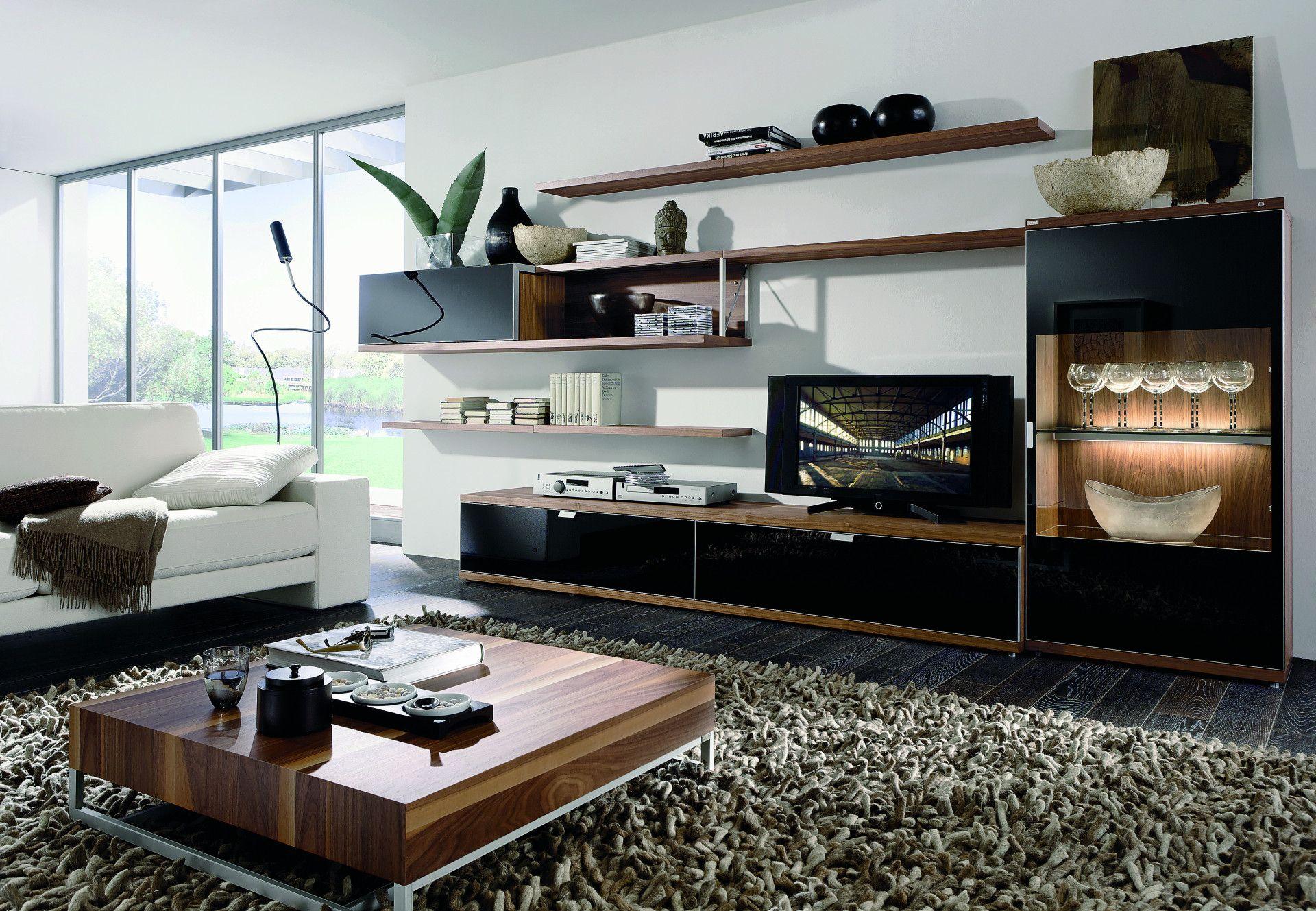 Wohnzimmer Mit Schwarzen Mobel Fronten Bauemotion De